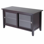 TV Media Stand with Sliding Doors [92044-FS-WWT]