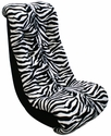 Tween Banana Rocker Zebra/Black Minky