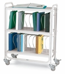 Twenty 2-Inch Binder Capacity Chart Cart [7200-FS-WIN]