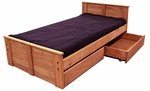 Twin Bed with Storage - Mahogany Stain [31350-211-FS-CHEL]