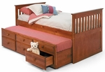 Twin Mission Bed with Trundle - Honey [366000-FS-CHEL]