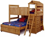 Twin Over Full Loft Bed with Ladder - Cinnamon [3514269-4268-FS-CHEL]