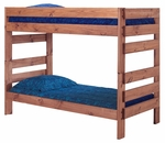 Twin Over Twin Stackable Bunk Bed - Mahogany Stain [312002-FS-CHEL]