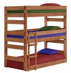 Twin Triple Bunk Bed - Mahogany Stain [312500-FS-CHEL]