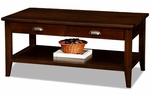 Two Drawer Solid Wood Coffee Table - Chocolate Cherry [10504-FS-LCK]