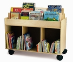 Two-Sided Library Cart with Heavy Duty Casters and Ample Storage [WB0383-FS-WBR]