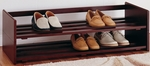 Two Tier Stackable Shoe Rack in Mahogany [17081W-FS-OIA]
