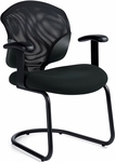 Tye QuickShip Sled Base Armchair - Black [1953-JN02-550-FS-GLO]