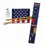 U.S. Flag Kit With Wood Pole [DFS1USA-1-FS-VAF]