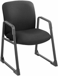 Uber™ Big and Tall 27.25'' W x 29.5'' D x 35.75'' H Guest Chair - Black Fabric [3492BL-FS-SAF]
