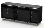 Uber Collection TV Stand Black Oak [4347678-FS-SS]
