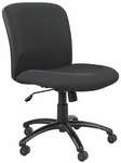 Uber™ Big and Tall Mid Back 27'' W x 30.25'' D x 36.50'' H Adjustable Height Armless Management Chair - Black [3491BL-FS-SAF]