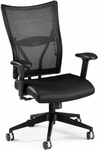 Talisto Executive Mid-Back Leather and Mesh Chair - Black [591-L-BLACK-FS-MFO]
