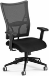 Talisto Executive Mid-Back Fabric and Mesh Chair - Black [591-F-BLACK-FS-MFO]