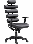 Unico High Back Chair in Black [205050-FS-ZUO]