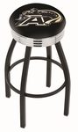 United States Military Academy 25'' Black Wrinkle Finish Swivel Backless Counter Height Stool with Ribbed Accent Ring [L8B3C25USMILA-FS-HOB]