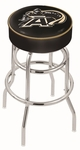 United States Military Academy 25'' Chrome Finish Double Ring Swivel Backless Counter Height Stool with 4'' Thick Seat [L7C125USMILA-FS-HOB]