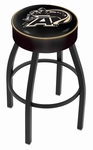 United States Military Academy 25'' Black Wrinkle Finish Swivel Backless Counter Height Stool with 4'' Thick Seat [L8B125USMILA-FS-HOB]