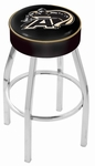 United States Military Academy 25'' Chrome Finish Swivel Backless Counter Height Stool with 4'' Thick Seat [L8C125USMILA-FS-HOB]
