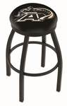 United States Military Academy 25'' Black Wrinkle Finish Swivel Backless Counter Height Stool with Accent Ring [L8B2B25USMILA-FS-HOB]