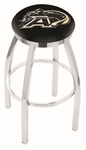United States Military Academy 25'' Chrome Finish Swivel Backless Counter Height Stool with Accent Ring [L8C2C25USMILA-FS-HOB]