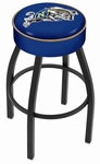 United States Naval Academy 25'' Black Wrinkle Finish Swivel Backless Counter Height Stool with 4'' Thick Seat [L8B125USNAVA-FS-HOB]