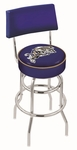 United States Naval Academy 25'' Chrome Finish Swivel Counter Height Stool with Double Ring Base [L7C425USNAVA-FS-HOB]