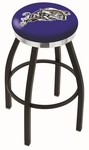 United States Naval Academy 25'' Black Wrinkle Finish Swivel Backless Counter Height Stool with Chrome Accent Ring [L8B2C25USNAVA-FS-HOB]