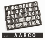1.5'' Universal Single Tab Changeable Helvetica Style Typeface Letters- 138 Characters per Set [HF1-5-AA]