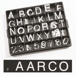 2'' Universal Single Tab Changeable Helvetica Style Typeface Letters- 160 Characters per Set [HF2-0-AA]