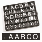 Universal Single Tab 2'' Changeable Helvetica Style Typeface Letters - 160 Characters per Set [HF2-0-AA]