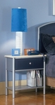 Brayden Metal Mesh 38''W x 33.5''H Youth Nightstand - Silver and Navy [1177-771A-FS-HILL]