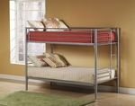 Brayden Metal Youth Bunk Bed - Twin and Twin - Silver [1178-012-FS-HILL]