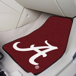 University of Alabama 2-piece Carpeted Car Mats 18'' x 27'' [8307-FS-FAN]
