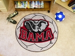 University of Alabama Soccer Ball Mat 27'' Diameter - Mascot Design [3757-FS-FAN]