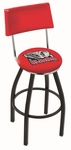 University of Alabama 25'' Black Wrinkle Finish Swivel Counter Height Stool with Cushioned Back [L8B425AL-ELE-FS-HOB]