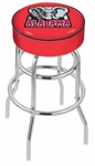 University of Alabama 25'' Chrome Finish Double Ring Swivel Backless Counter Height Stool with 4'' Thick Seat [L7C125AL-ELE-FS-HOB]
