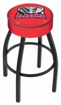 University of Alabama 25'' Black Wrinkle Finish Swivel Backless Counter Height Stool with 4'' Thick Seat [L8B125AL-ELE-FS-HOB]