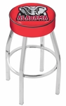 University of Alabama 25'' Chrome Finish Swivel Backless Counter Height Stool with 4'' Thick Seat [L8C125AL-ELE-FS-HOB]