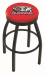 University of Alabama 25'' Black Wrinkle Finish Swivel Backless Counter Height Stool with Accent Ring [L8B2B25AL-ELE-FS-HOB]