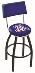 University of Arizona 25'' Black Wrinkle Finish Swivel Counter Height Stool with Cushioned Back [L8B425ARIZUN-FS-HOB]