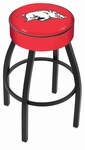 University of Arkansas 25'' Black Wrinkle Finish Swivel Backless Counter Height Stool with 4'' Thick Seat [L8B125ARKNUN-FS-HOB]