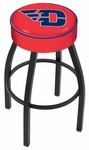 University of Dayton 25'' Black Wrinkle Finish Swivel Backless Counter Height Stool with 4'' Thick Seat [L8B125DYTNUN-FS-HOB]