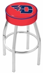 University of Dayton 25'' Chrome Finish Swivel Backless Counter Height Stool with 4'' Thick Seat [L8C125DYTNUN-FS-HOB]