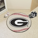 University of Georgia Team Logo Baseball Mat 27'' Diameter - Red [4989-FS-FAN]
