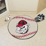University of Georgia Baseball Mat 27'' Diameter - Mascot Design [4953-FS-FAN]