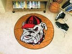 University of Georgia Basketball Mat 27'' Diameter - Mascot Design [4952-FS-FAN]