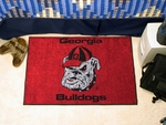 University of Georgia Bulldog Logo Starter Rug,19'' x 30'' [4955-FS-FAN]