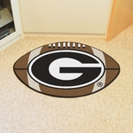 University of Georgia Team Logo Football Mat 22'' x 35'' - Black [3024-FS-FAN]