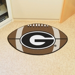 University of Georgia Team Logo Football Mat 22'' x 35'' - Red [4987-FS-FAN]